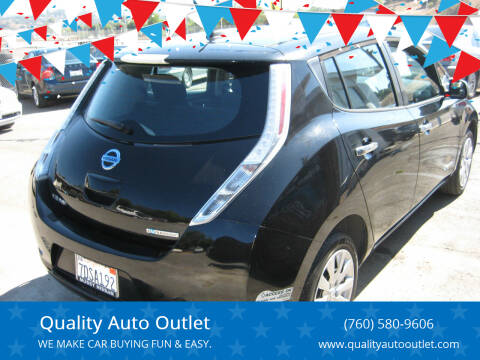 2013 Nissan LEAF for sale at Quality Auto Outlet in Vista CA