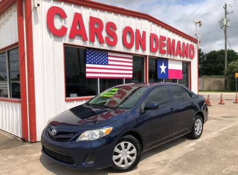 2013 Toyota Corolla for sale at Cars On Demand 2 in Pasadena TX