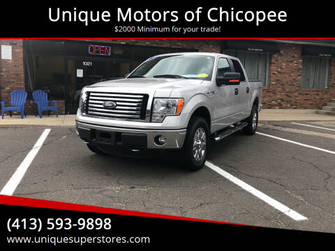 2012 Ford F-150 for sale at Unique Motors of Chicopee in Chicopee MA