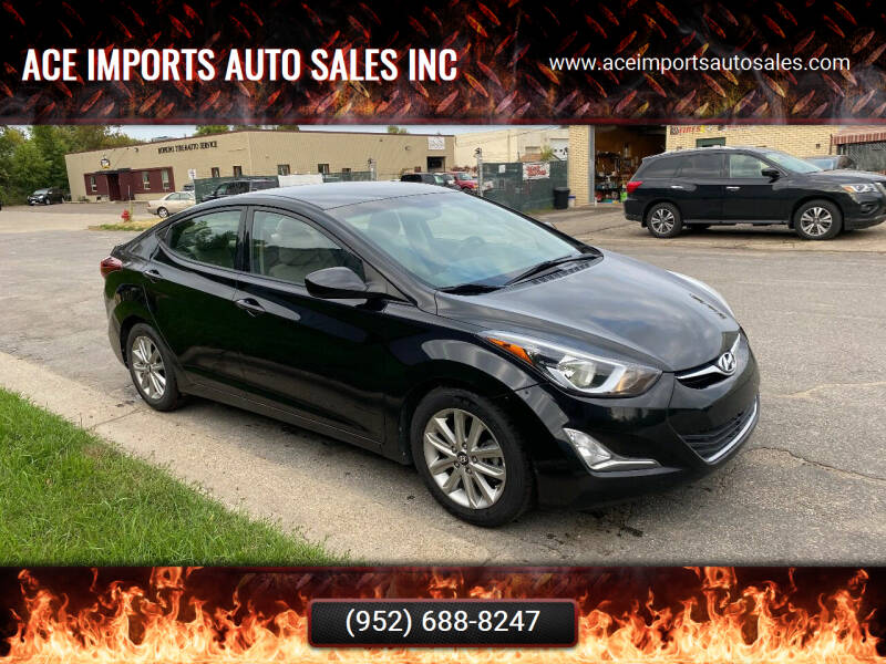 2016 Hyundai Elantra for sale at ACE IMPORTS AUTO SALES INC in Hopkins MN
