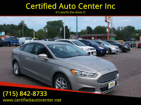 2015 Ford Fusion for sale at Certified Auto Center Inc in Wausau WI
