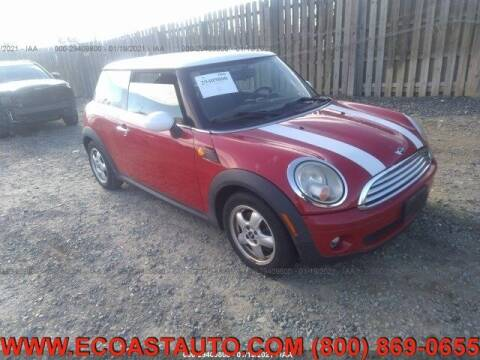 2010 MINI Cooper for sale at East Coast Auto Source Inc. in Bedford VA