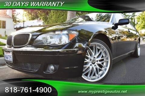 2008 BMW 7 Series for sale at Prestige Auto Sports Inc in North Hollywood CA