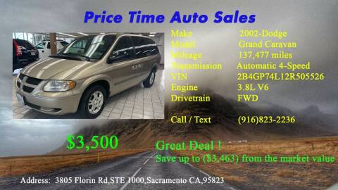 2002 Dodge Grand Caravan for sale at PRICE TIME AUTO SALES in Sacramento CA
