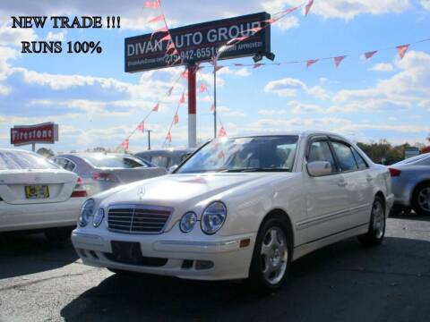 2002 Mercedes-Benz E-Class for sale at Divan Auto Group in Feasterville PA
