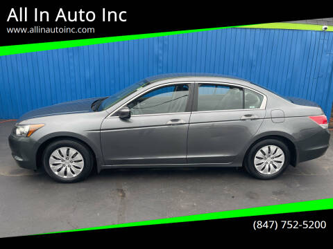 2009 Honda Accord for sale at All In Auto Inc in Palatine IL
