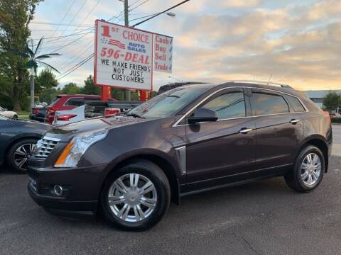 2015 Cadillac SRX for sale at 1st Choice Auto Sales in Newport News VA