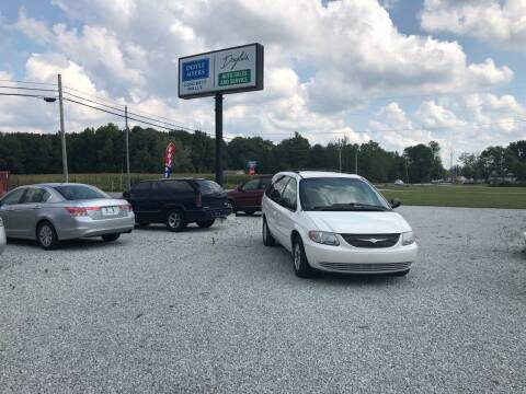 2002 Chrysler Town and Country for sale at Doyle's Auto Sales and Service in North Vernon IN