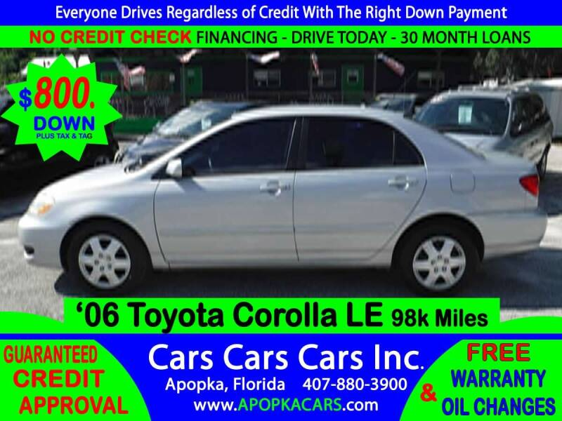 2006 Toyota Corolla for sale at CARS CARS CARS INC in Apopka FL