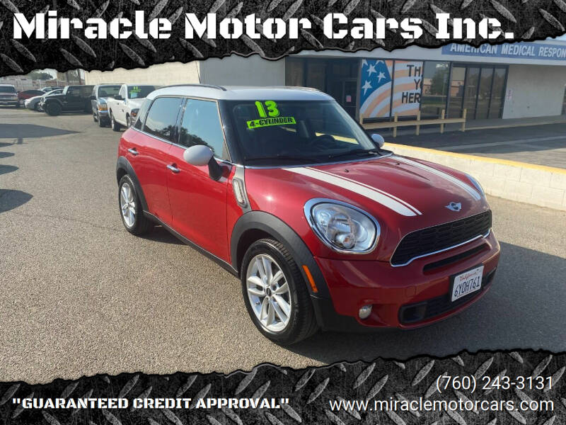 2013 MINI Countryman for sale at Miracle Motor Cars Inc. in Victorville CA