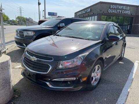 2015 Chevrolet Cruze for sale at SOUTHFIELD QUALITY CARS in Detroit MI
