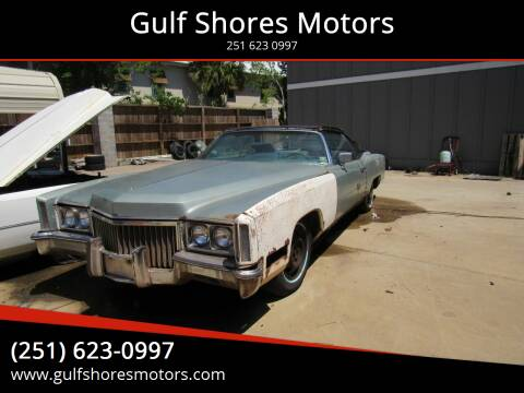 1972 Cadillac Eldorado for sale at Gulf Shores Motors in Gulf Shores AL