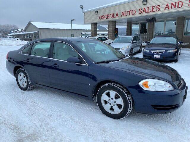 2008 Chevrolet Impala for sale at Osceola Auto Sales and Service in Osceola WI
