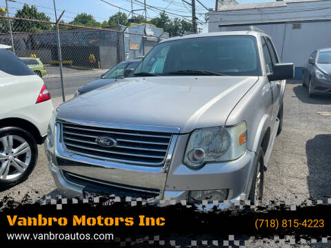 2008 Ford Explorer for sale at Vanbro Motors Inc in Staten Island NY