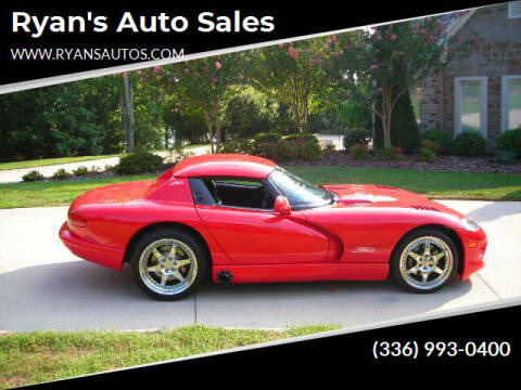 1999 Dodge Viper for sale at Ryan's Auto Sales in Kernersville NC