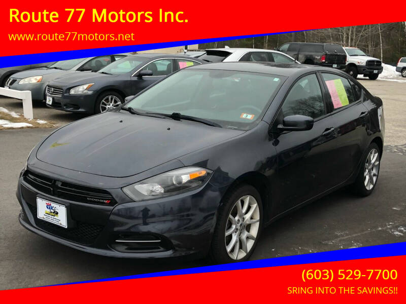 2014 Dodge Dart for sale at Route 77 Motors Inc. in Weare NH