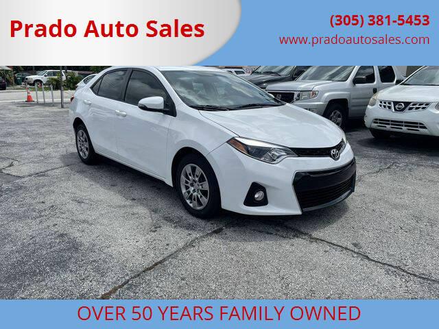 2014 Toyota Corolla for sale at Prado Auto Sales in Miami FL