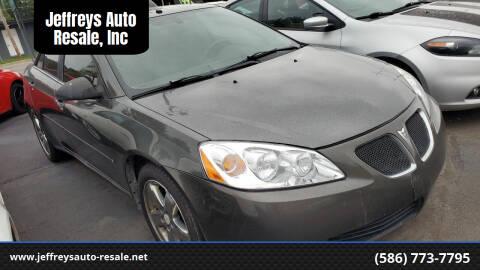 2007 Pontiac G6 for sale at Jeffreys Auto Resale, Inc in Clinton Township MI