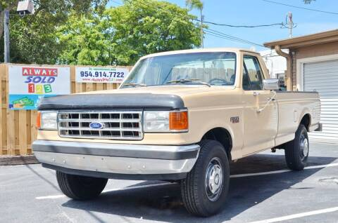 1989 Ford F-250 for sale at ALWAYSSOLD123 INC in Fort Lauderdale FL