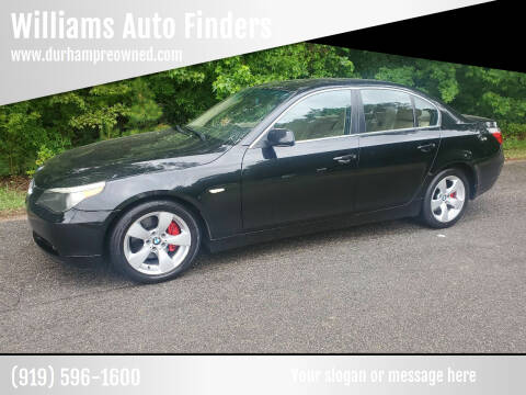 2006 BMW 5 Series for sale at Williams Auto Finders in Durham NC