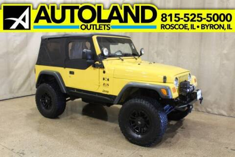2004 Jeep Wrangler for sale at AutoLand Outlets Inc in Roscoe IL