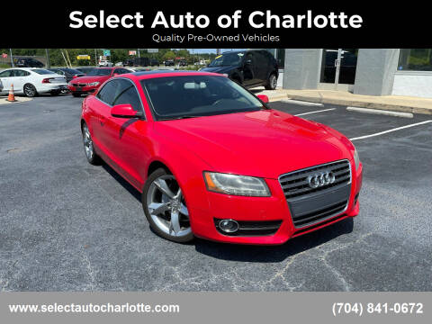 2012 Audi A5 for sale at Select Auto of Charlotte in Matthews NC