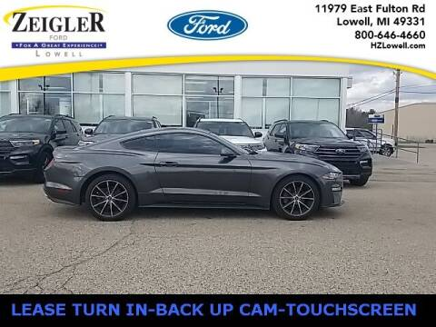 2018 Ford Mustang for sale at Zeigler Ford of Plainwell- Jeff Bishop in Plainwell MI