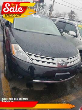 2006 Nissan Murano for sale at Budget Auto Deal and More Services Inc in Worcester MA