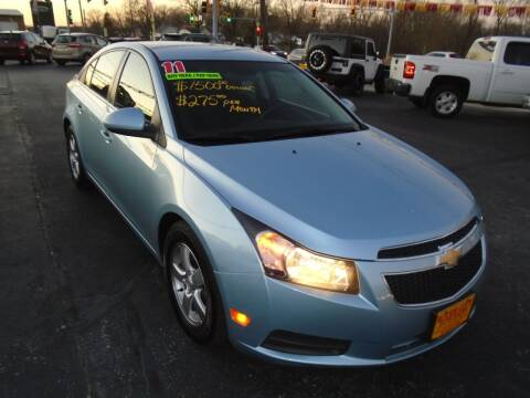 2011 Chevrolet Cruze for sale at River City Auto Sales in Cottage Hills IL