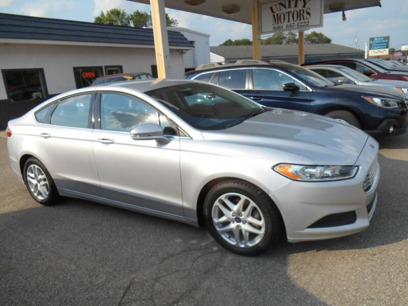 2016 Ford Fusion for sale at Unity Motors LLC in Jenison MI