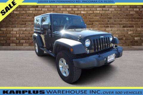 2015 Jeep Wrangler for sale at Karplus Warehouse in Pacoima CA