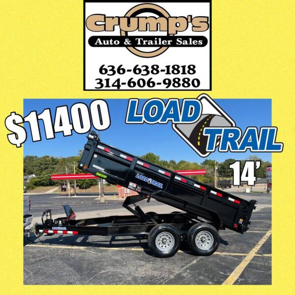 2022 Load Trail 14' Dump trailer for sale at CRUMP'S AUTO & TRAILER SALES in Crystal City MO