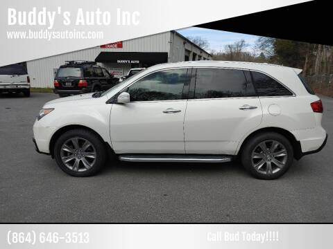2011 Acura MDX for sale at Buddy's Auto Inc in Pendleton, SC