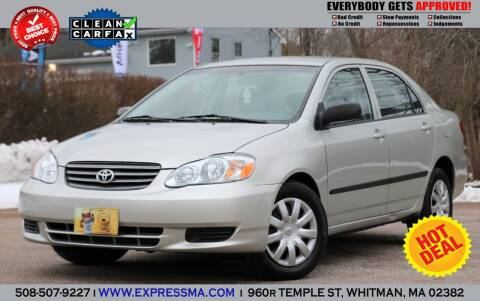 2004 Toyota Corolla for sale at Auto Sales Express in Whitman MA