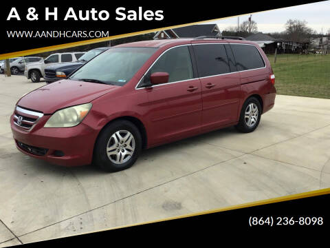 2005 Honda Odyssey for sale at A & H Auto Sales in Greenville SC