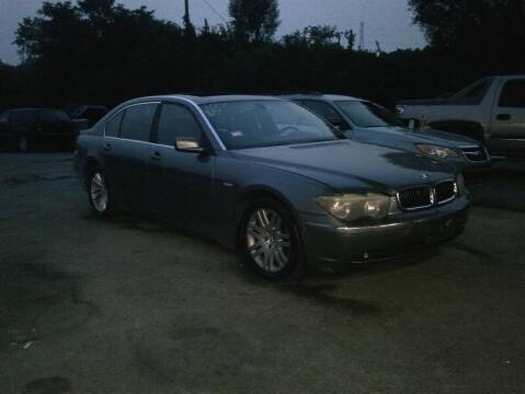 2003 BMW 7 Series for sale at WEINLE MOTORSPORTS in Cleves OH