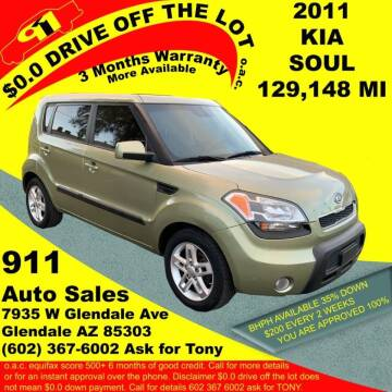 2011 Kia Soul for sale at 911 AUTO SALES LLC in Glendale AZ