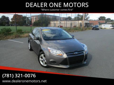 2014 Ford Focus for sale at DEALER ONE MOTORS in Malden MA