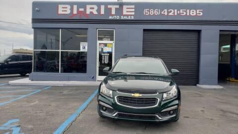 2015 Chevrolet Cruze for sale at Bi-Rite Auto Sales in Clinton Township MI