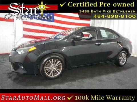 2014 Toyota Corolla for sale at STAR AUTO MALL 512 in Bethlehem PA