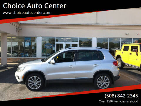 2016 Volkswagen Tiguan for sale at Choice Auto Center in Shrewsbury MA