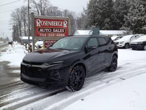 2020 Chevrolet Blazer for sale at Rosenberger Auto Sales LLC in Markleysburg PA