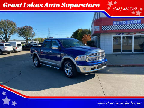 2017 RAM Ram Pickup 1500 for sale at Great Lakes Auto Superstore in Pontiac MI