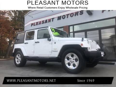 2015 Jeep Wrangler Unlimited for sale at Pleasant Motors in New Bedford MA