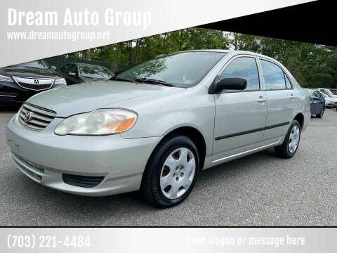 2003 Toyota Corolla for sale at Dream Auto Group in Dumfries VA