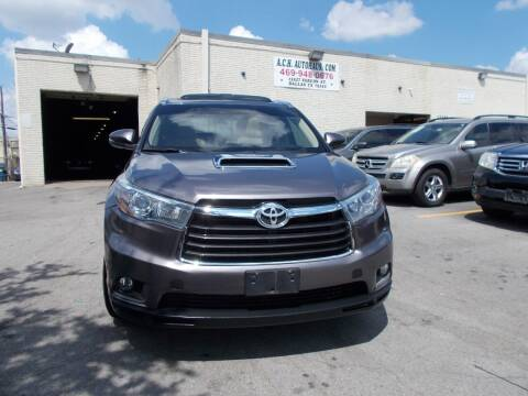 2015 Toyota Highlander for sale at ACH AutoHaus in Dallas TX