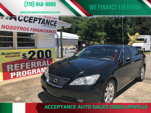 2009 Lexus ES 350 for sale at Acceptance Auto Sales Douglasville in Douglasville GA
