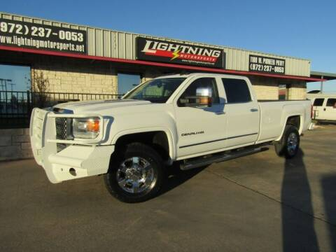 2015 GMC Sierra 3500HD for sale at Lightning Motorsports in Grand Prairie TX