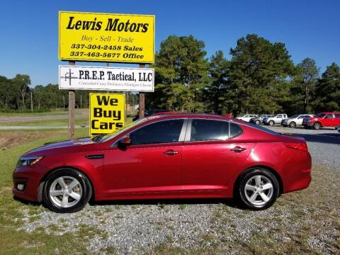 2014 Kia Optima for sale at Lewis Motors LLC in Deridder LA