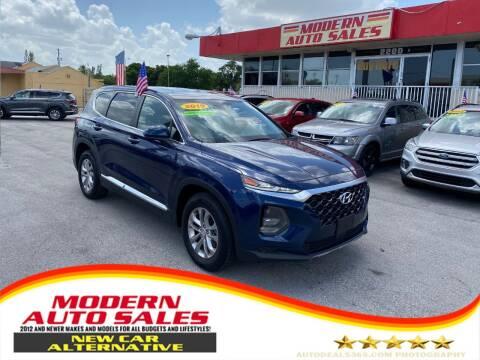 2019 Hyundai Santa Fe for sale at Modern Auto Sales in Hollywood FL